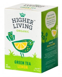 Higher Living Green Tea Lemon - herbata 20 saszetek