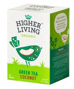 Higher Living Green Tea Coconut - herbata 20 saszetek